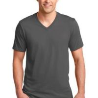 100% Ring Spun Cotton V Neck T Shirt Thumbnail