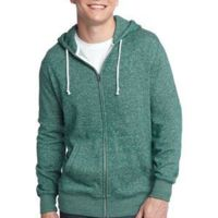 Young Mens Marled Fleece Full Zip Hoodie Thumbnail